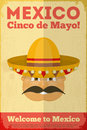 Mexican posters poster in retro style cinco de mayo illustration Stock Image