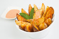 Mexican potatoes fried with spicy sauce Stock Photo