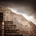 Mexican pyramid Royalty Free Stock Photography