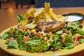 Mexican salad this is a with a grilled chicken and a corn and black bean pico with a chipotle ranch Stock Images