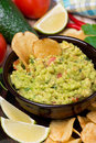Mexican sauce guacamole close up vertical Royalty Free Stock Photo