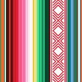 Mexican seamless pattern. Striped texture with ornament for plaid, blanket, carpet . Background for decoration