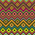 Mexican seamless zigzag background Royalty Free Stock Photo