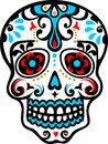 Mexican skull el dia de los muertos day dead vector image Royalty Free Stock Photography