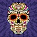 Mexican skull, the original pattern. vector