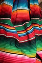 Mexican sombrero fiesta sequin and decorative ornate poncho ready for a Royalty Free Stock Images