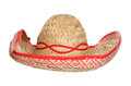 Mexican sombrero hat studio cutout Royalty Free Stock Photos