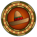 Mexican sombrero logo Stock Photo