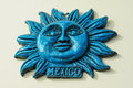 Mexican souvenir blue hanging on wall Stock Photography