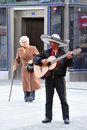 Mexican street musician plays guitar in Madrid Spain Stock Photography