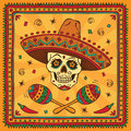 Mexican sugar skull Royalty Free Stock Photo