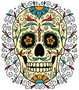 Mexican sugar skull ornamental Stock Photos