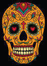 Mexican sugar skull ornamental Stock Images