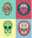 Mexican sugar skull vector drawing of style skulls Stock Photo
