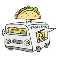 Mexican taco food truck Royalty Free Stock Photo