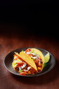 Mexican taco with spicy meat and salad Royalty Free Stock Photo