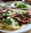 Mexican pork tacos Royalty Free Stock Photo