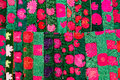 Mexican textile details in chiapas mexico colorful traditional closeup Stock Photo