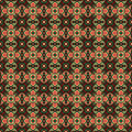 Mexican themed traditional aztec style pattern
