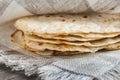 Mexican tortillas freshly baked pita Royalty Free Stock Photo