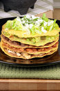 Mexican tostada ahogada Royalty Free Stock Photo