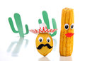 Mexican toy from lemon and corn Royalty Free Stock Image