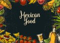 Mexican traditional food restaurant menu template with traditional spicy dish.