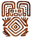 Mexican tribal pattern man figure Royalty Free Stock Photo