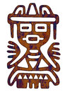 Mexican tribal pattern man figure Stock Image