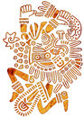 Mexican tribal pattern man figure Stock Images