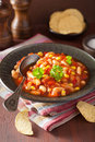 Mexican veggie chilli in plate Royalty Free Stock Images