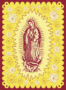 Mexican Virgin of Guadalupe - vintage poster