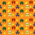 Mexican wrestler mask pattern fun Stock Image