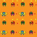 Mexican wrestler mask pattern star Royalty Free Stock Photography
