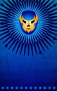 Mexican wrestler mask poster - card - template Royalty Free Stock Images