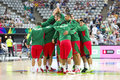 Mexico basketball team players before the fiba world cup match between usa and final score on september in barcelona spain Royalty Free Stock Photography
