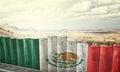 Mexico border wall Royalty Free Stock Photo