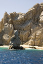 Mexico cabo san lucas rocks and beaches el arco de travel destination north america Stock Images