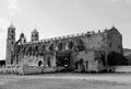 Mexico church cathedral Merida colonial architecture historial yucatan black and white