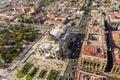 Mexico city aerial view of the palacio de bellas artes in Royalty Free Stock Photo