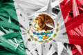 Mexico Flag on cannabis background. Drug policy. Legalization of marijuana
