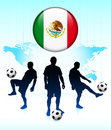 Mexico Flag Icon on Soccer Team Stock Images