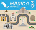 Mexico Landmark Global Travel And Journey Infographic Vector Royalty Free Stock Photo