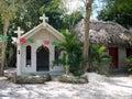 Mexico: Nuevo Durango white Catholic church exterior