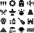 Mexico pictograms Stock Image
