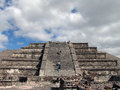 Mexico teotihuacan pyramids pyramid of the moon is second largest in after sun it is located in Royalty Free Stock Images