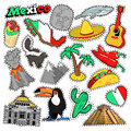 Mexico Travel Scrapbook Stickers, Patches, Badges