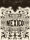 Mexico western elements set mexican holiday vector poster grunge effects can be easily removed Royalty Free Stock Image