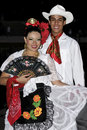 Mexico young boy and lady, folklore dancers Royalty Free Stock Image