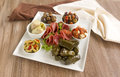 Mezze platter delicious freshly prepared cosisting of a variety of mediterranean foods Royalty Free Stock Photography